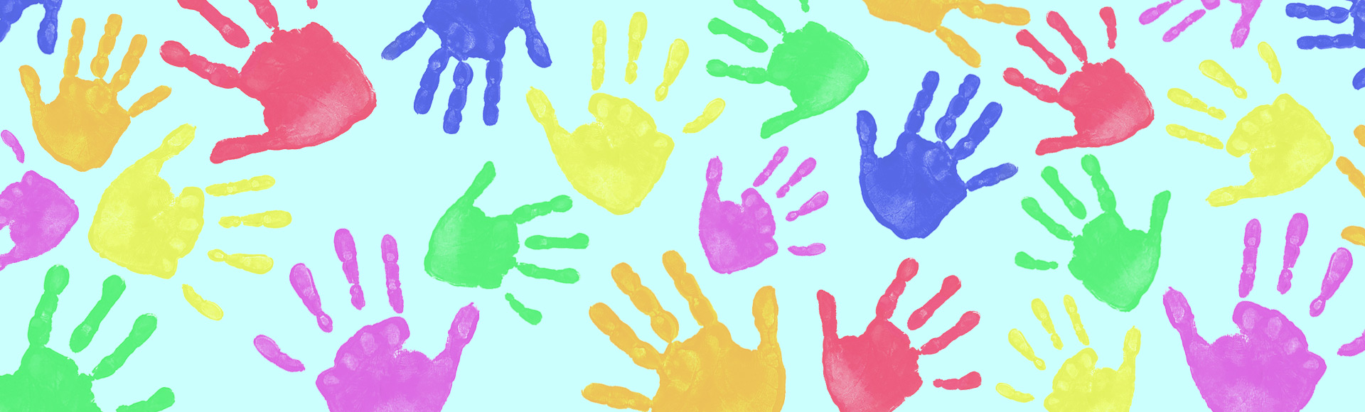 painted hands background
